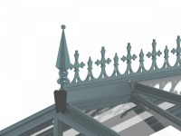 Optional Victorian ridge cresting and finials, in Old Cottage Green
